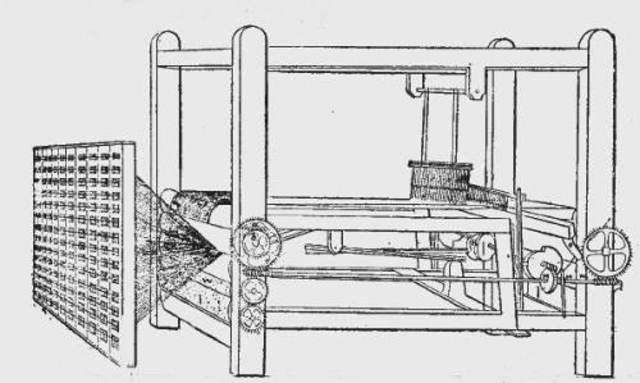 Edmund Cartwright patents the power loom.