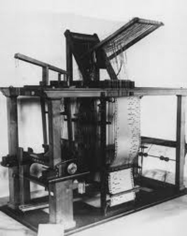 Joseph Marie Jacquard invents the Jaquard loom.