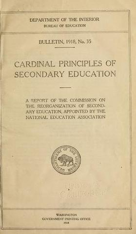 The Cardinal Principles of Secondary Education