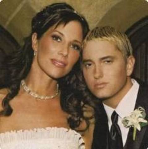 Eminem marries Kim.