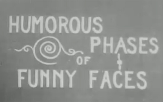 J. Stuart Blackton Directs Humorous Phases of Funny Faces