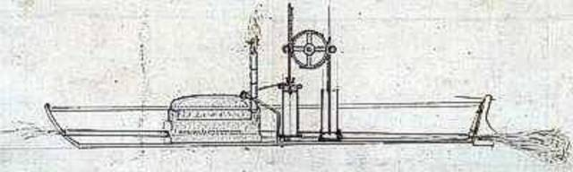 Fulton develops a powerful steam boat engine (Social)