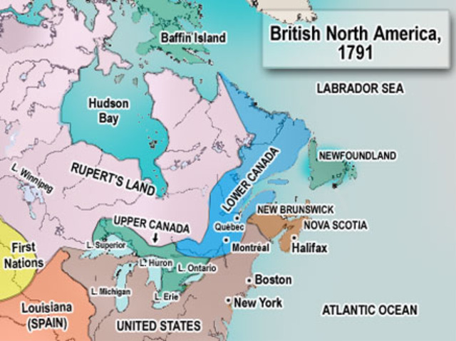 Redefining British North America 17831815 Timeline Timetoast: North America 1783 Map At Infoasik.co