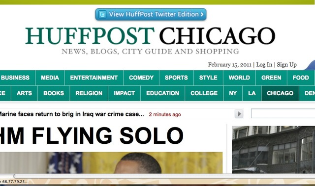 HuffPo Chicago launches