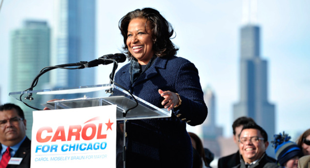 Carol Moseley Braun joins the senate.