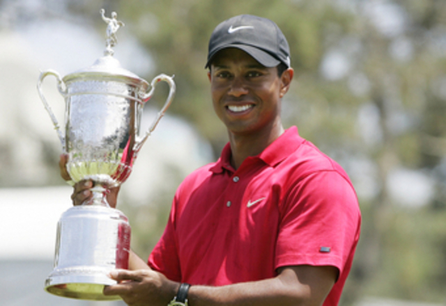 Tiger Woods wins the U.S. Amateur Championship