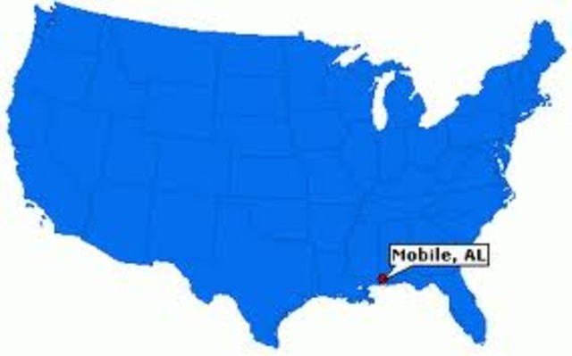 My family moves to Mobile, Alabama