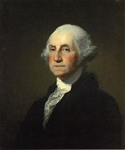First President of the United States was elected.
