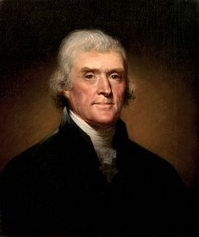 Thomas Jefferson elected President of the United States.