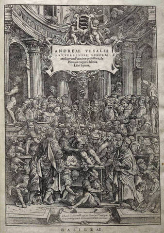 Andreas Vesalius publishes the anatomy treatise De humani corporis fabrica.