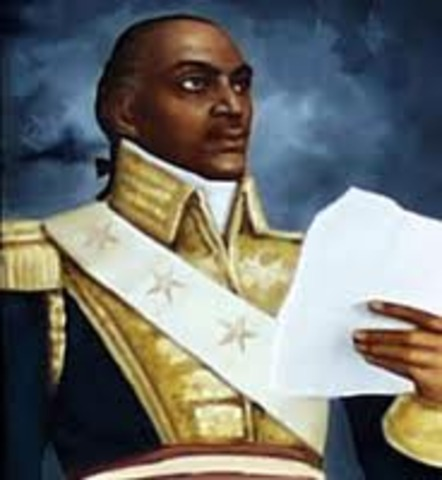 Toussaint L'Ouverture led a slave rebellion in Haiti