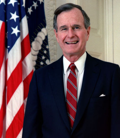 Bush Sr. Elected