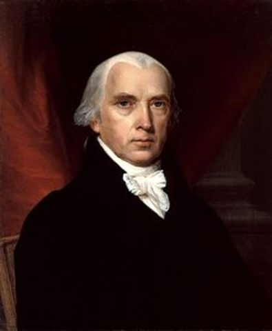 James Madison elected President of the U.S.