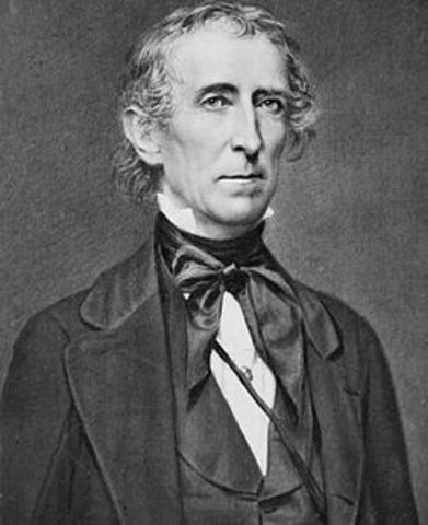 John Tyler becomes President of the U.S.