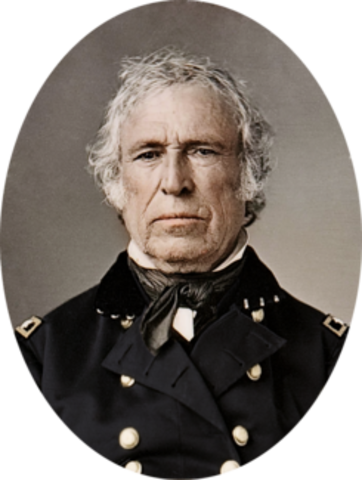 Zachary Taylor elected as 12th U.S President.