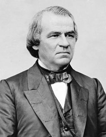 Andrew Johnson names 17th President of the U.S.