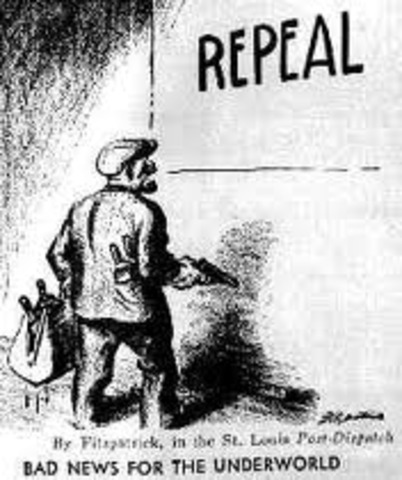 a history of the thirteen year period of prohibition that lasted between 1920 and 1933 Prohibition in the united states was a nationwide constitutional ban on the production, importation, transportation, and sale of alcoholic beverages from 1920 to 1933.