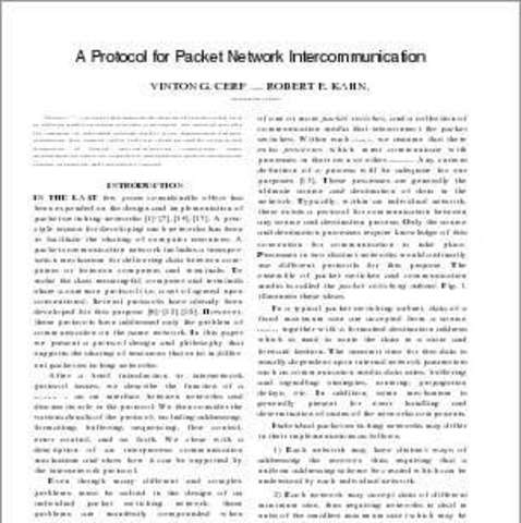 Paper specifying details of TCP is published