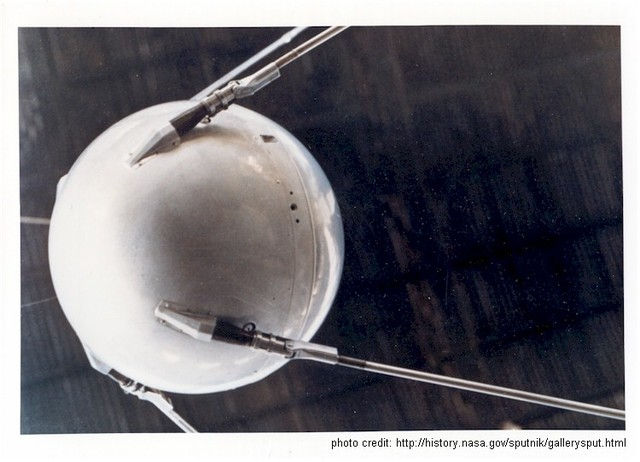 The USSR launches Sputnik
