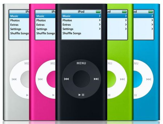 Apple announced the release of the iPod