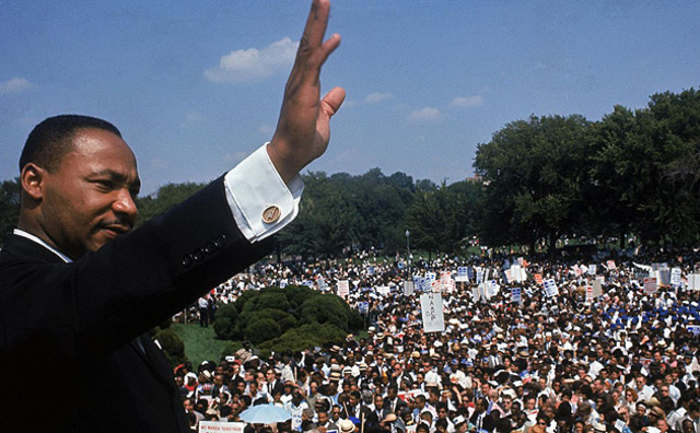 Martin Luther King Jr. delivers his