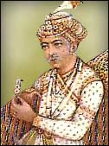 Jalaluddin Muhammad Akbar is Placed on the Mughal Throne