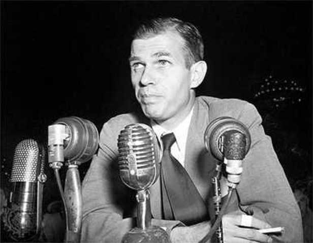 Alger Hiss sentenced to five years in prison