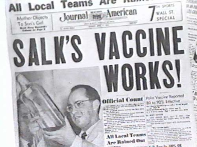 First Effective Polio Vaccine