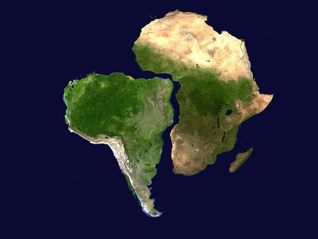 South America breaks away from Africa