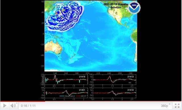NOAA: Honshu, Japan tsunami propagation