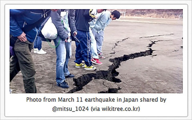 After Quake and Tsunami, Japanese Citizens Flock to Social Networks for Informantion