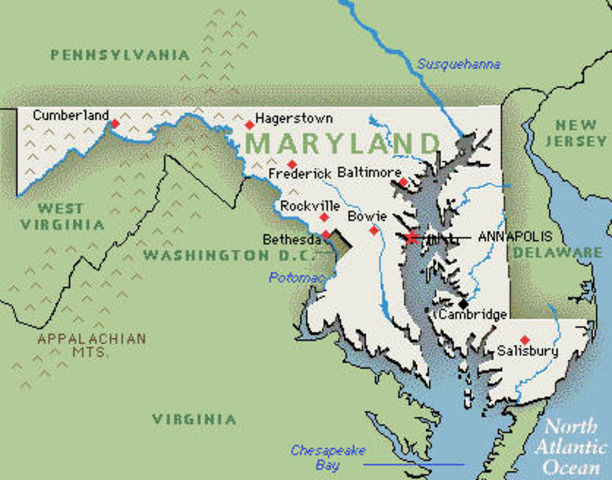 Maryland was founded
