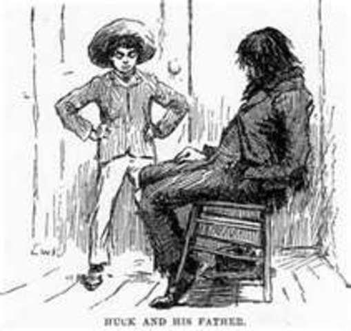 the fathers of huckleberry finn Adventures of huckleberry finn: adventures of huckleberry finn is a novel by mark twain, first published in 1884 huck runs away from his abusive father and.