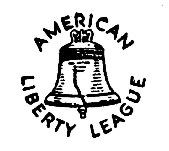 The American Liberty League is founded