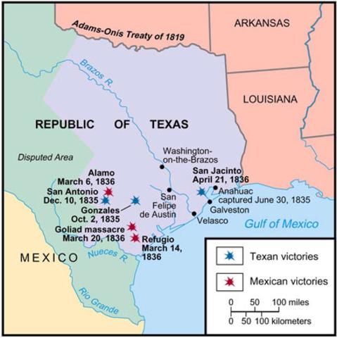 The Texas Revolution timeline | Timetoast timelines