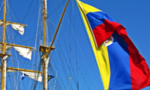 220px colombian flag on arc gloria  landscape