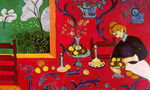 Henri matisse the dessert harmony in red  landscape
