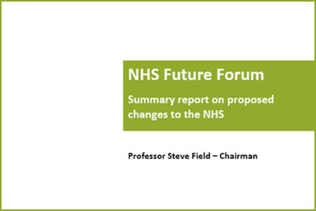NHS Future Forum - key points