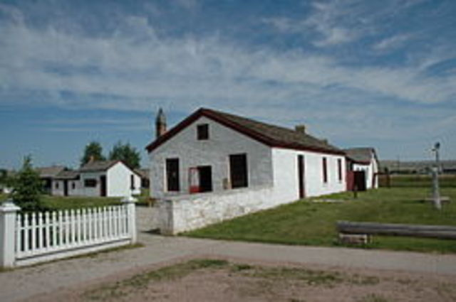 The Donner Party arrives at Fort Bridger,