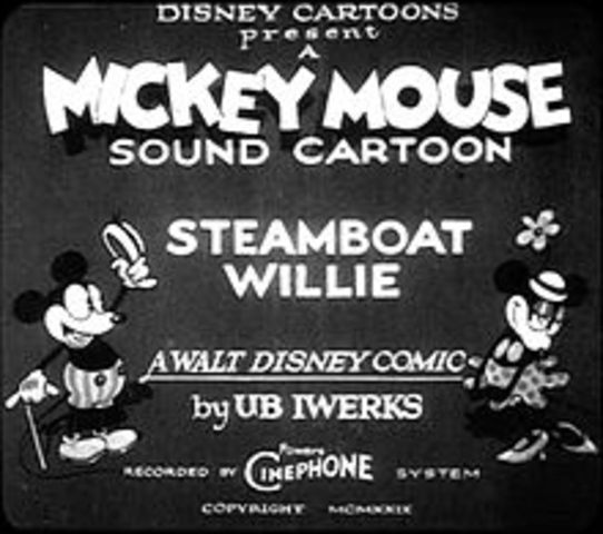 Disney's Steamboat Willie opens, the first animated picture to feature Mickey Mouse