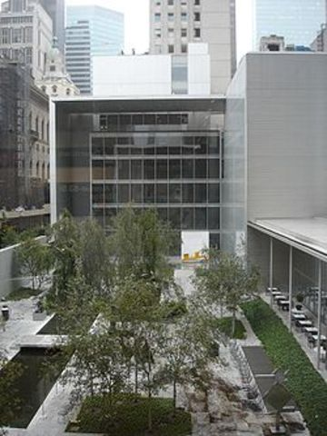 The Museum of Modern Art opens to the public in New York City