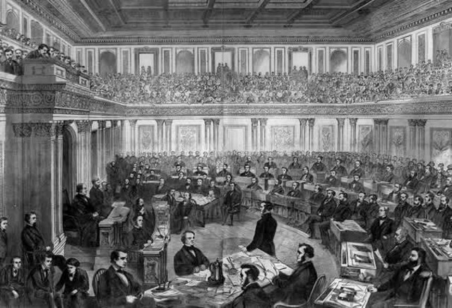 President Andrew Johnson is Impeached