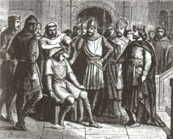 the rise of the carolingian empire Battle of tours charles martel dies childeric iii deposed pippin the short dies conquest of the lombards educational reform charlemagne dies the first.