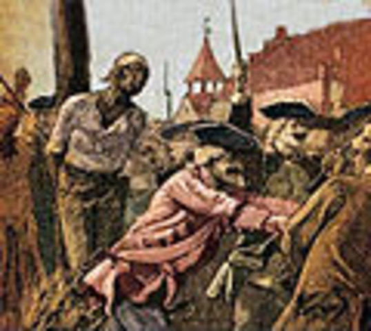 Slave uprising in New York City - 1712