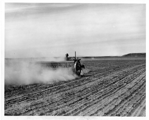 Seeding of wheat on Pasco Unit of Columbia Irrigation Project