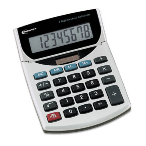 The first handheld calculator was invented.