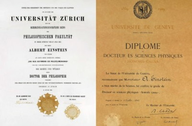 thesis on albert einstein