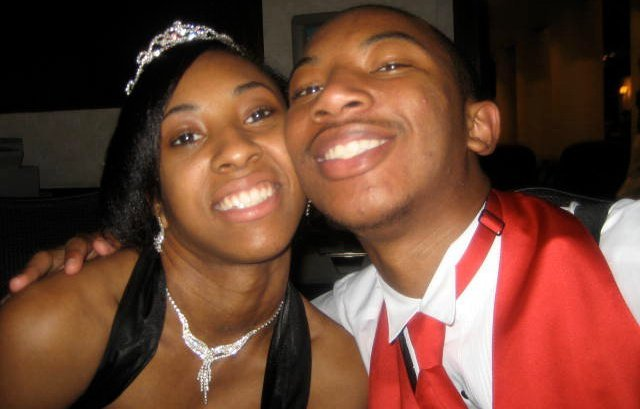 Senior Prom. This is a picture of me with my girlfriend at the time eating at Ruby Tuesday's