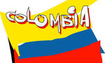 Colombia flag  landscape