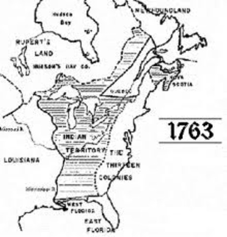 Proclomation Line of 1763